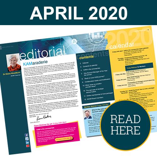 Key Account Management Bulletin April 2020